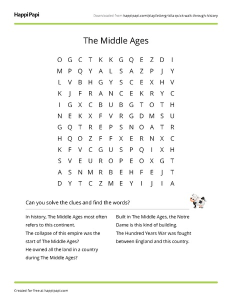 The Industrial Revolution Free Word Search Puzzle Worksheets