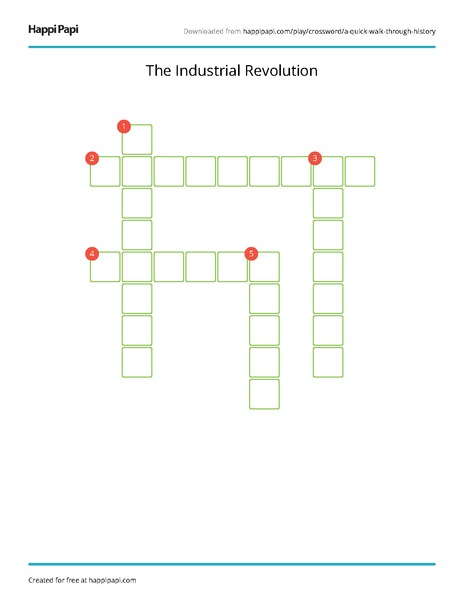 The Industrial Revolution Free Crossword Puzzle