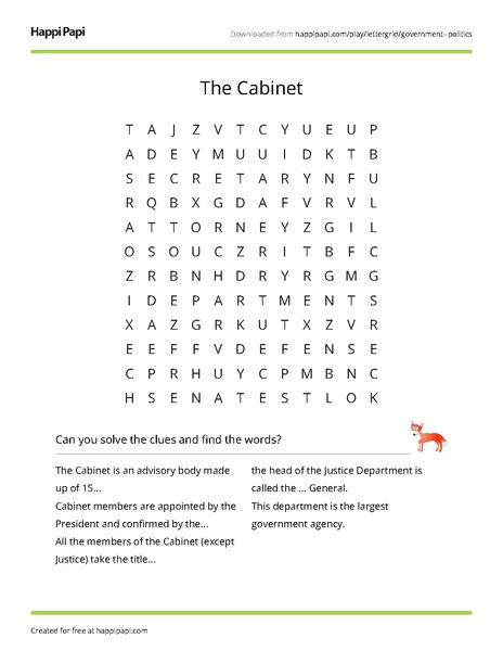 Presidential Cabinet Worksheet - The Best and Most Comprehensive ...