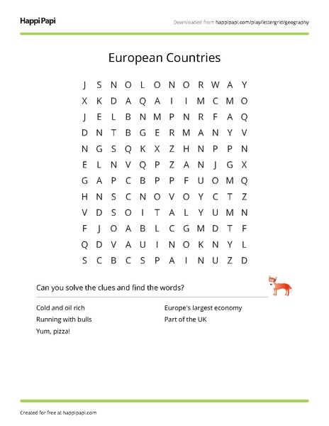 graphic relating to Free Printable Number Search Puzzles named Ecu Nations Totally free Term Glance Puzzle Worksheets